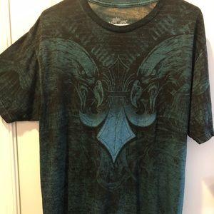 Helix Men's t-shirt Blue and Black